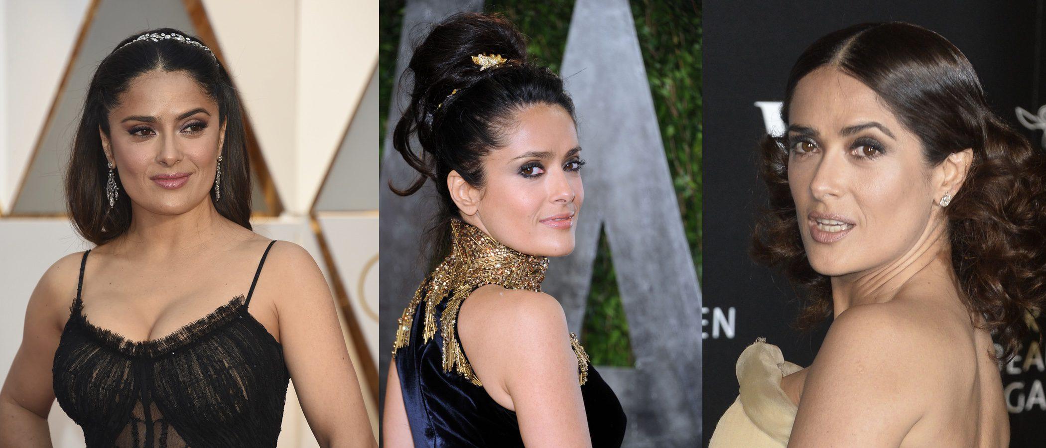 Los peores peinados de Salma Hayek