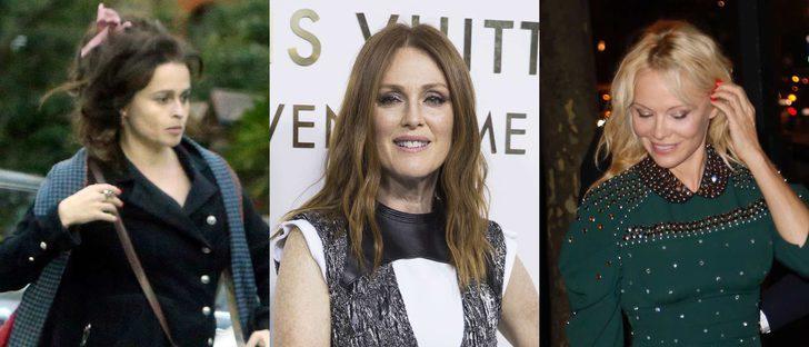 Helena Bonham Carter, Pamela Anderson y Julianne Moore arrancan octubre luciendo los peores beauty looks