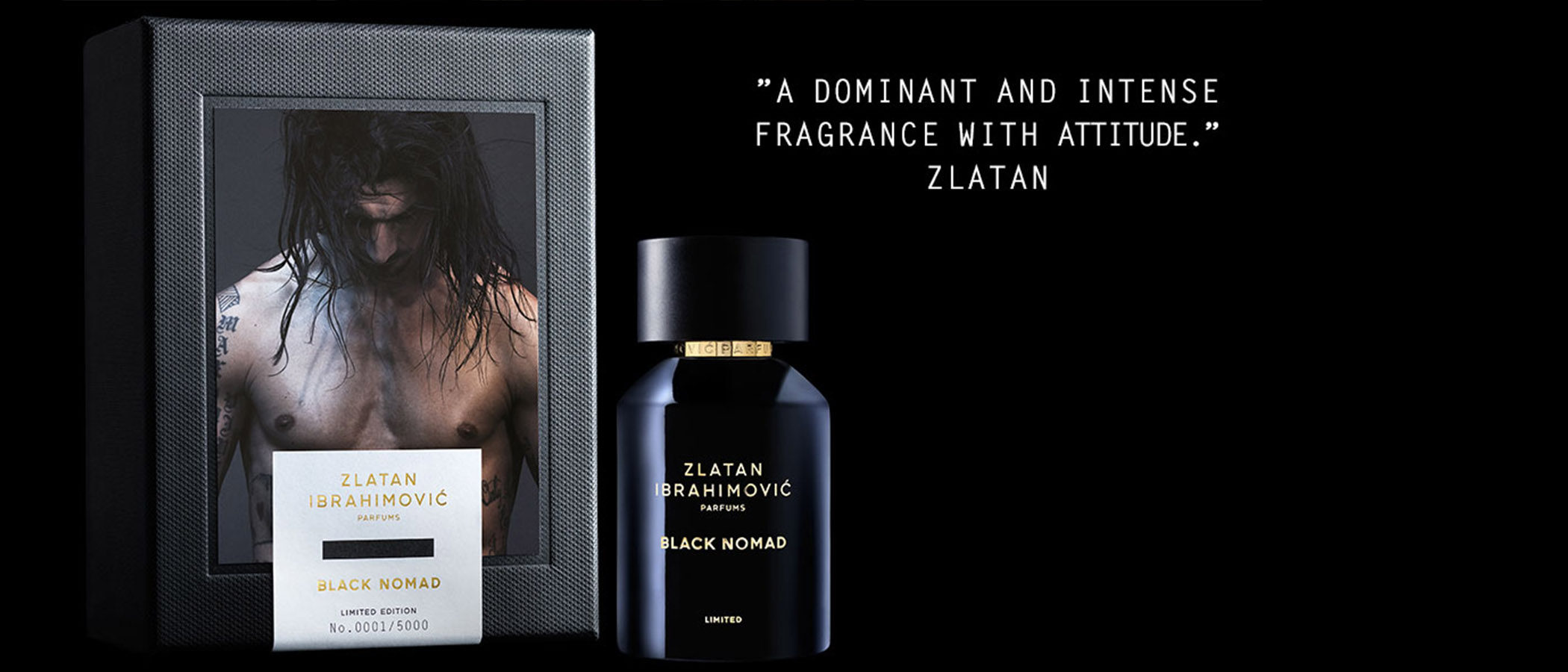 'Black Nomad', el salvaje y nuevo perfume masculino del futbolista Zlatan Ibrahimovic
