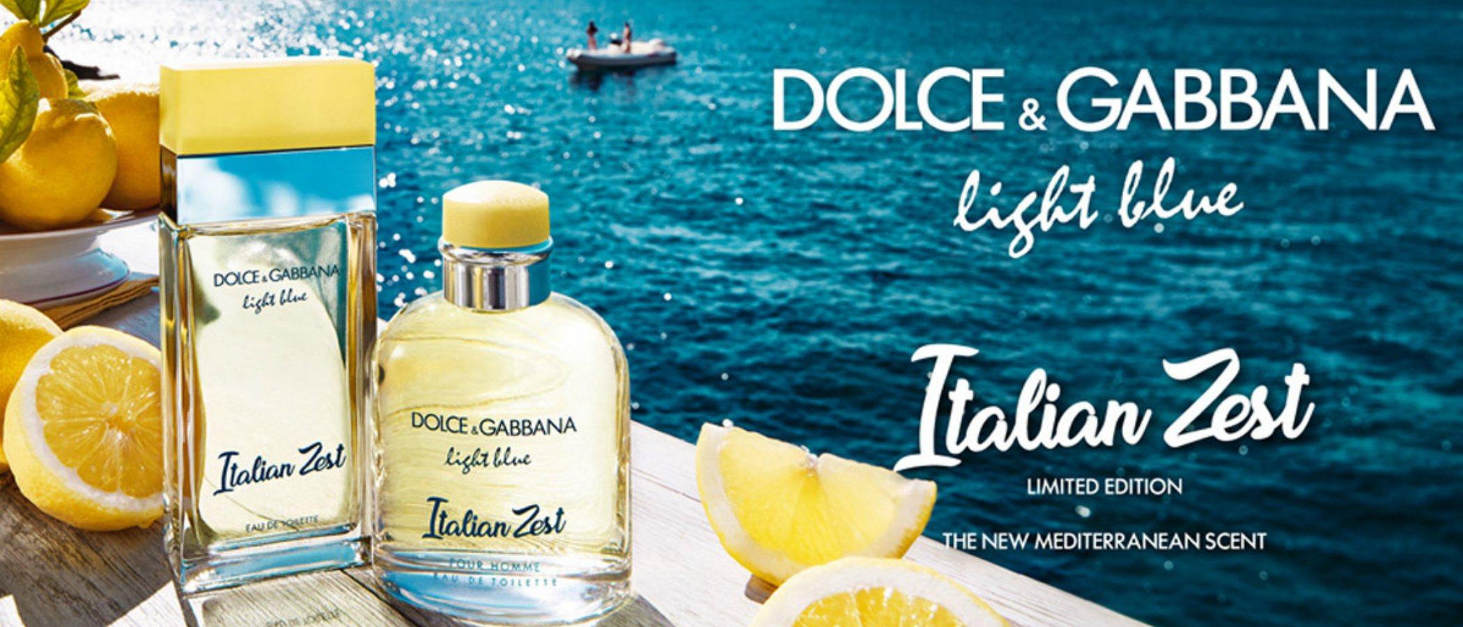 'Light Blue Italian Zest', el dúo de fragancias en edición limitada de Dolce & Gabbana para este verano 2018