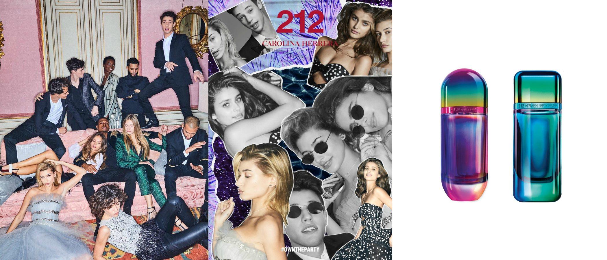 '212 VIP Party Fever', la nueva versión de las fragancias para mujer y para hombre de Carolina Herrera