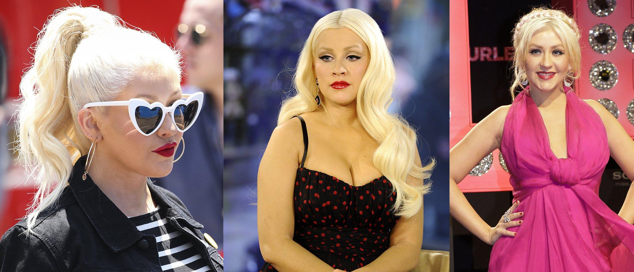 Los mejores peinados de Christina Aguilera