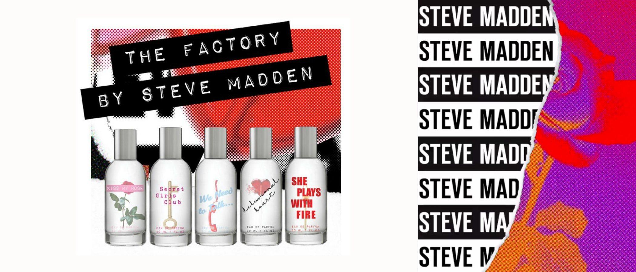 'The Factory', la primera colección de fragancias de Steve Madden