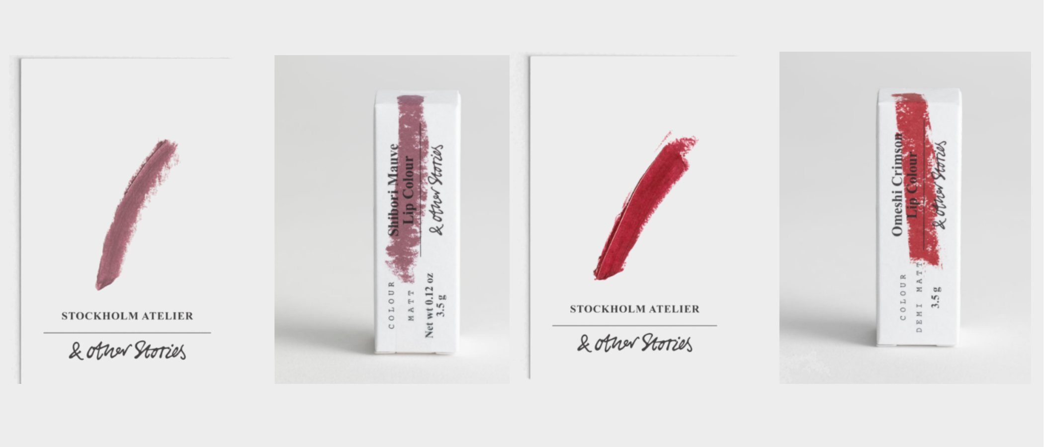 'Shibori Mauve' y 'Omeshi Crimson', los nuevos labiales de & Other Stories