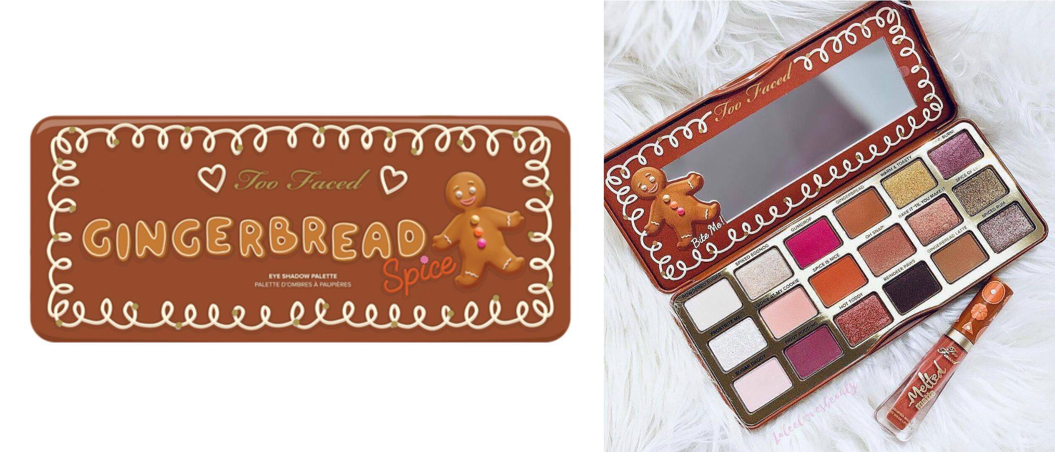 'Gingerbread Spice', la paleta de sombras de ojos de Too Faced para esta Navidad 2018