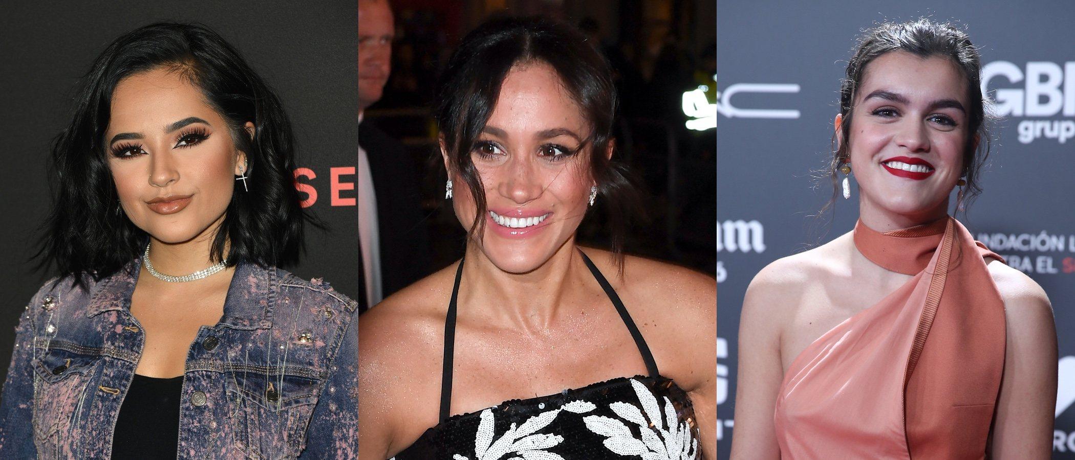 Becky G, Meghan Markle y Amaia Romero lucen los mejores beauty looks de la semana