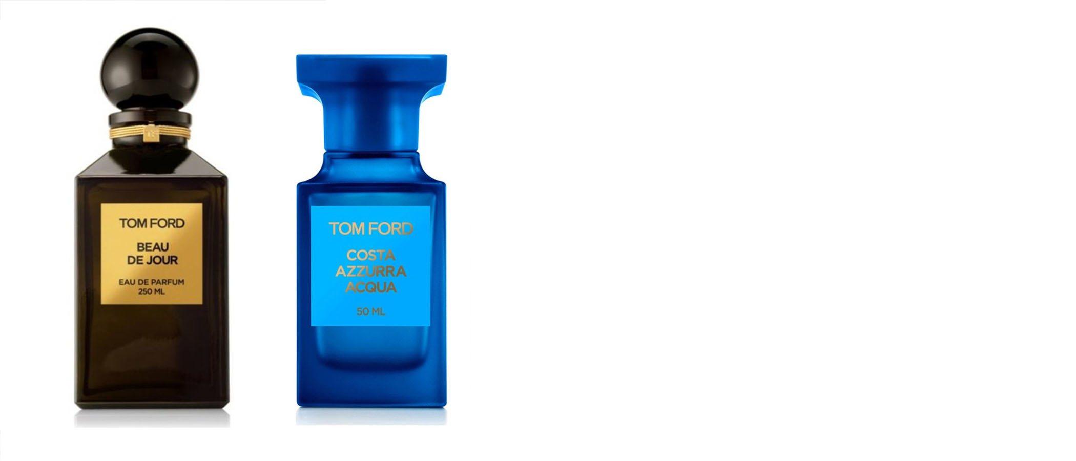 Nuevas fragancias se incorporan a la colección de perfumes de Tom Ford: 'Beau de Jour' y 'Costa Azzurra Acqua'