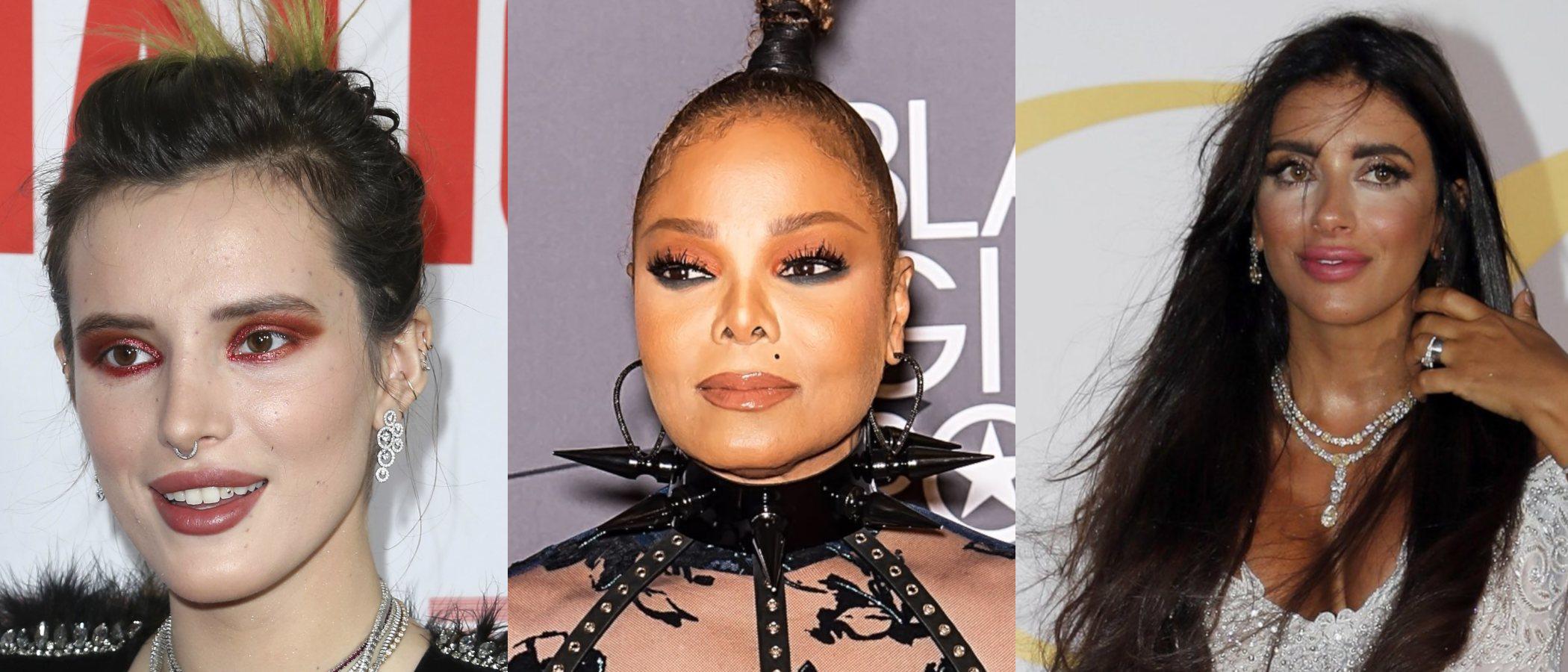 Jannet Jackson, Chloë Moretz y Bella Thorne, entre las peor maquilladas de este año