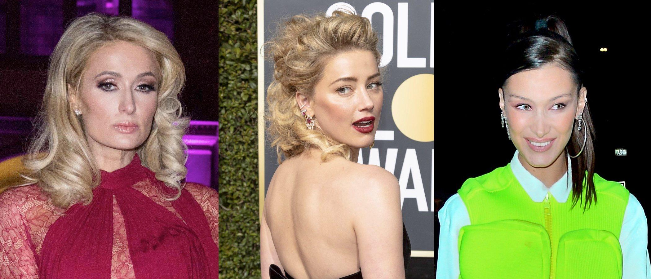 Paris Hilton, Amber Heard y Bella Hadid lucen los peores beauty looks de la semana