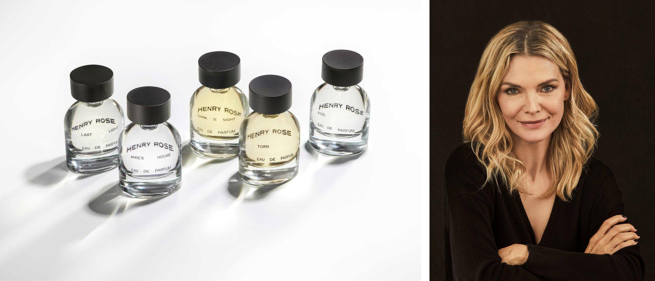 Michelle Pfeiffer presenta su marca de perfumes Henry Rose con una colección de cinco fragancias unisex