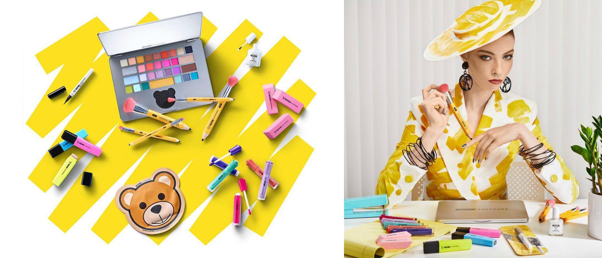 Moschino lanza una original colección inspirada en material de oficina en colaboración con Sephora
