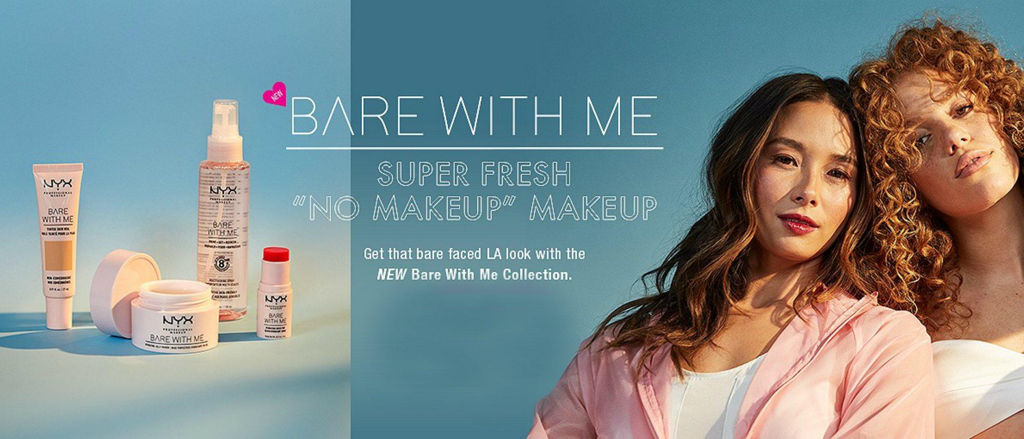 'Bare With Me', la colección de NYX con la que conseguir un look 'no makeup' este verano 2019