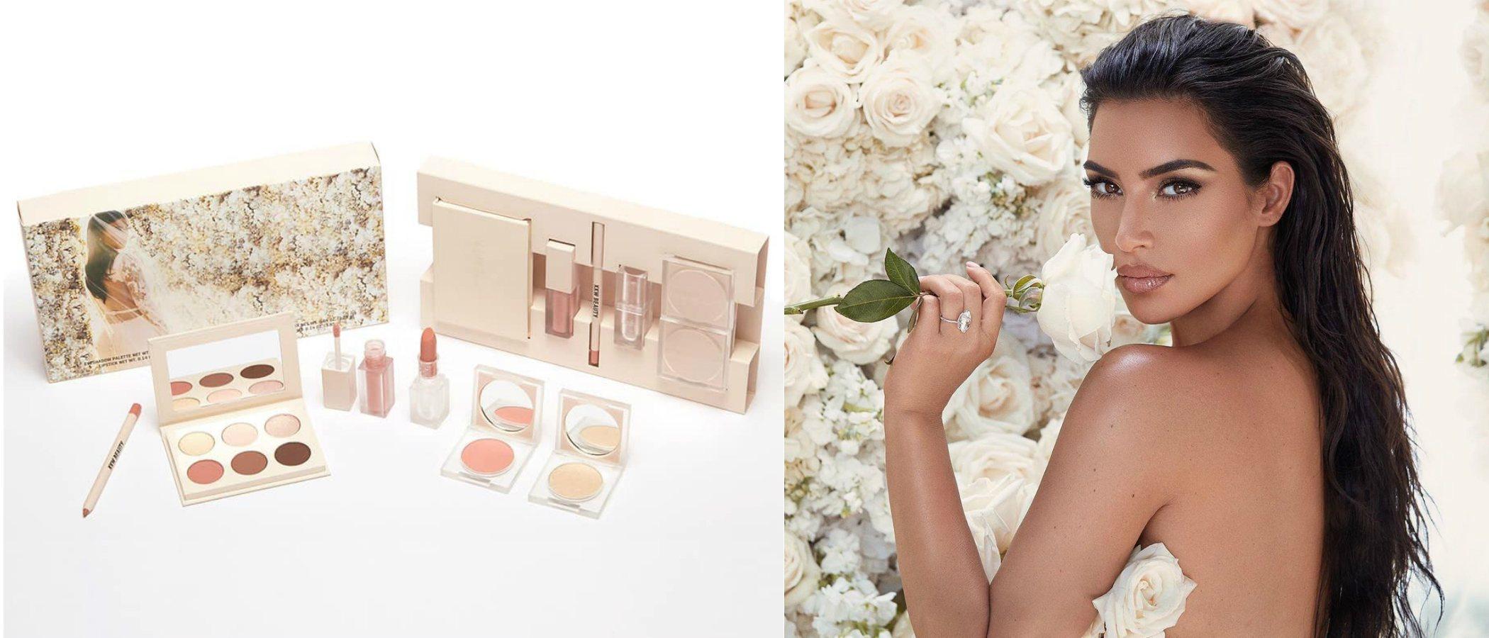 KKW Beauty lanza 'Mrs. West', una colección inspirada en el maquillaje de boda de Kim Kardashian