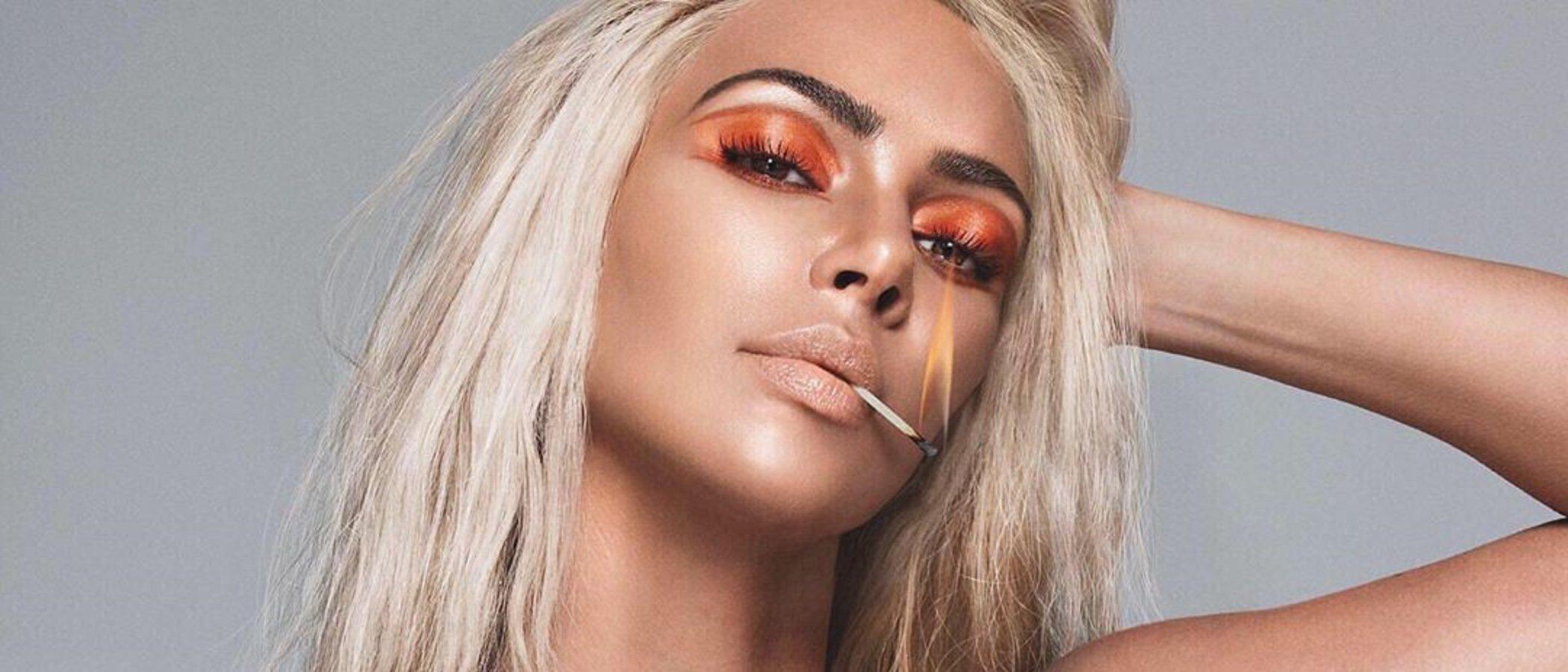 Kim Kardashian lanza su colección de maquillaje más ardiente: así es 'Fire'