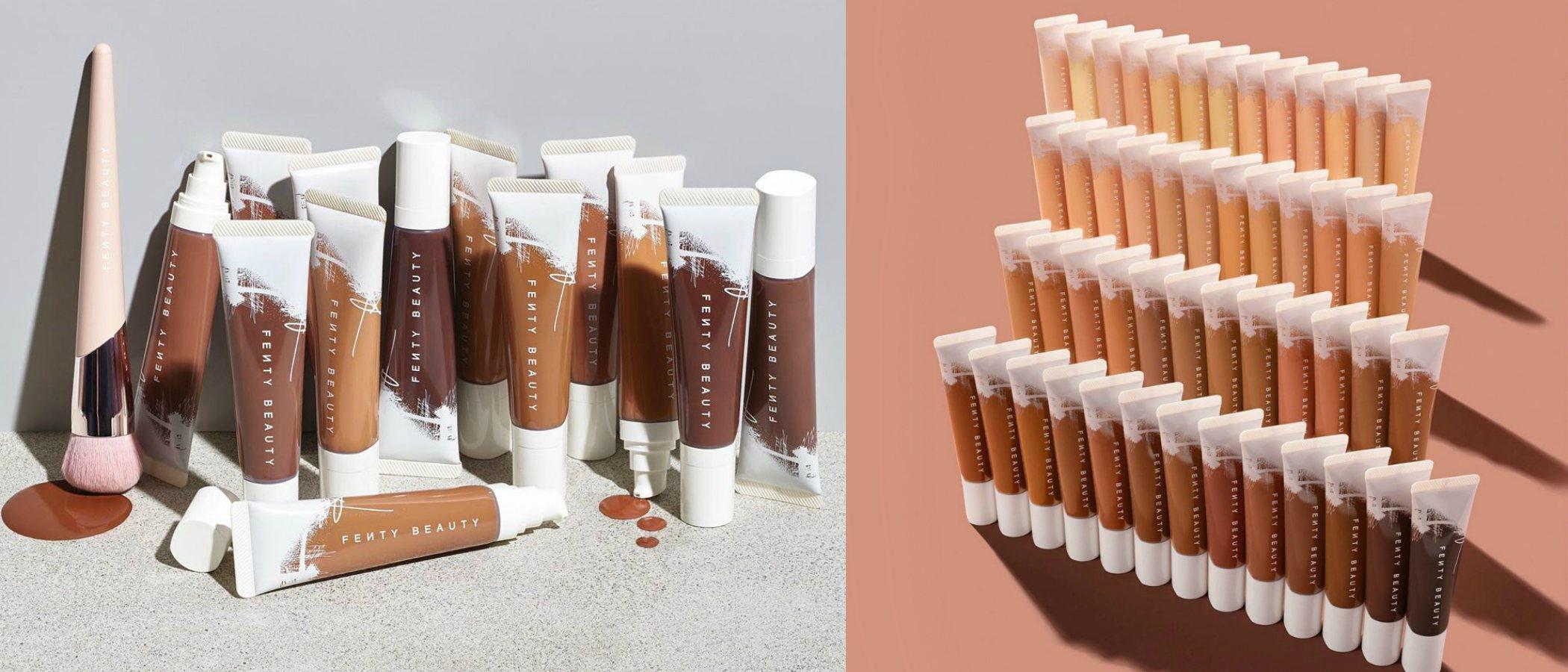Fenty Beauty by Rihanna lanza su base de maquillaje para pieles secas en 50 tonos