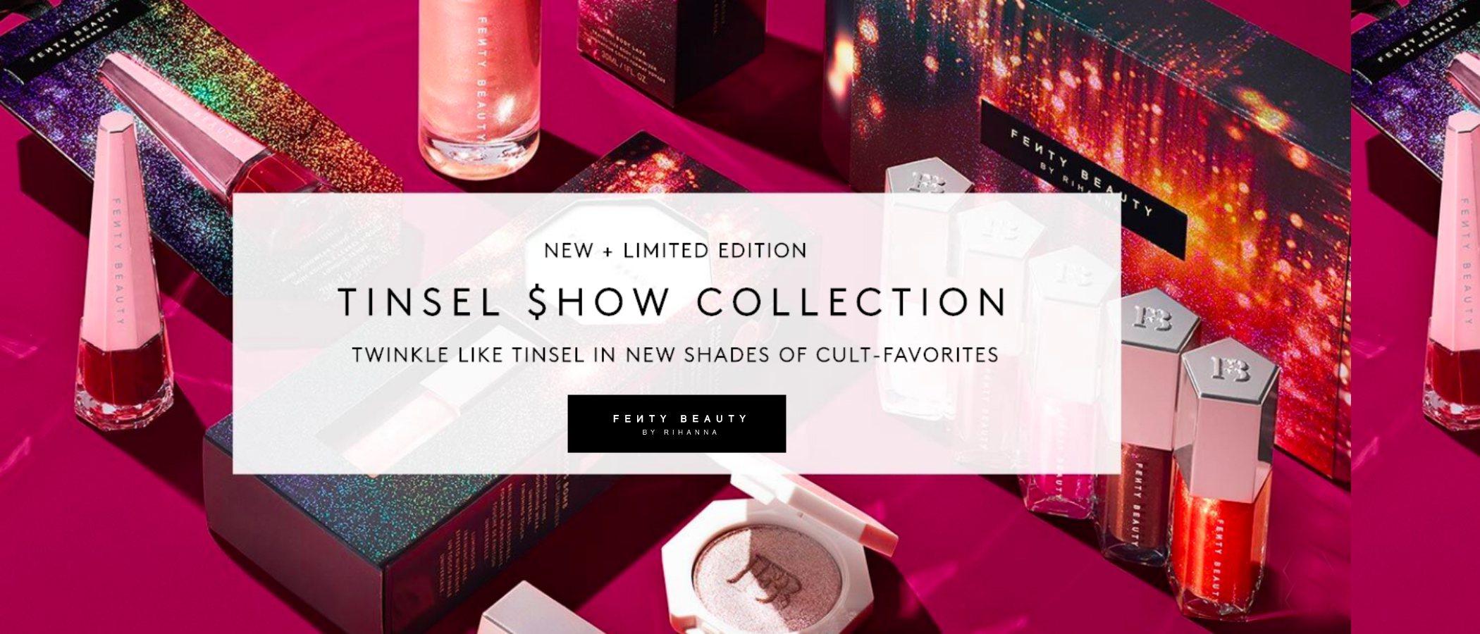 'Tinsel Show', la colección de maquillaje de Fenty Beauty by Rihanna para esta Navidad 2019