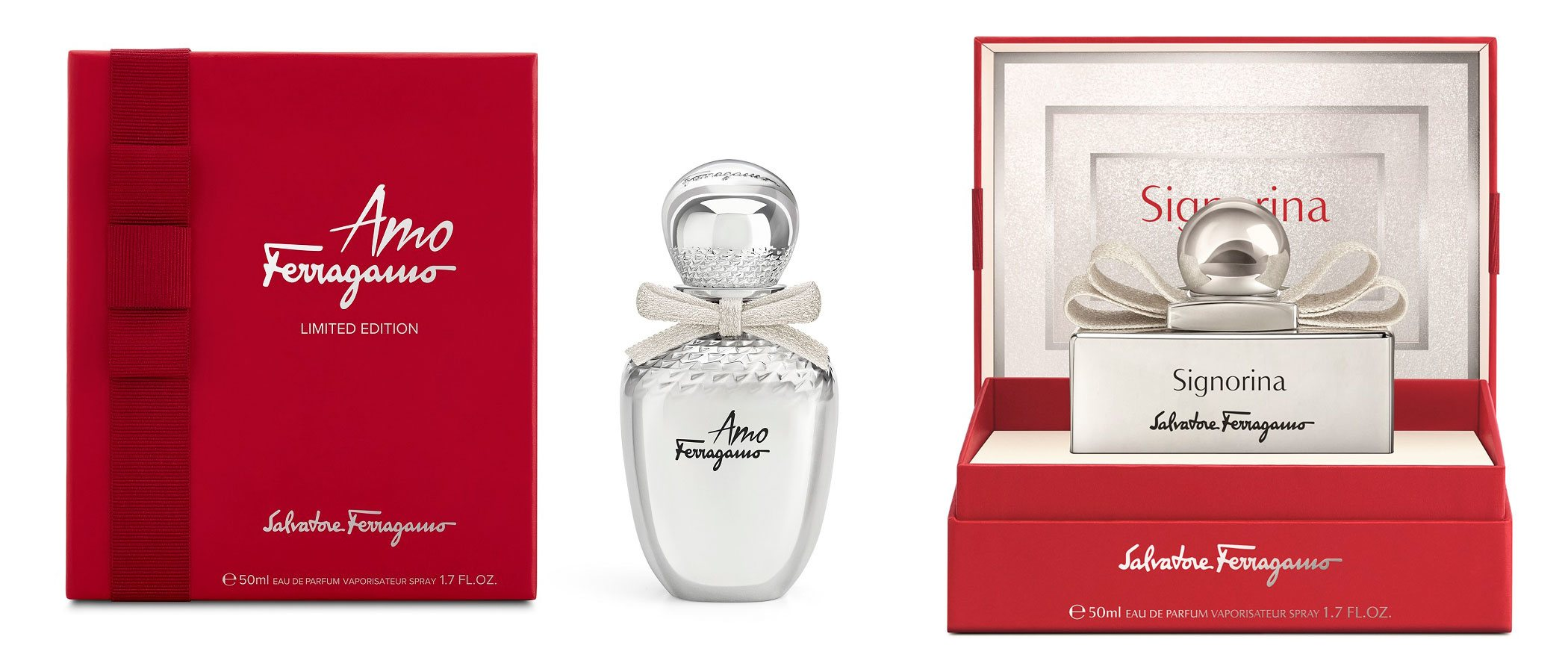 'Amo Ferragamo' y 'Signorina Eau de Parfum', así son los perfumes navideños de Salvatore Ferragamo