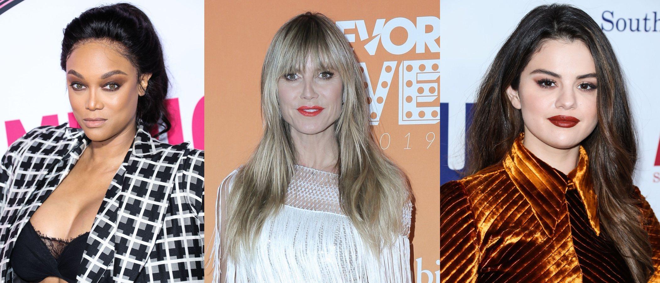 Heidi Klum, Selena Gomez y Tyra Banks lucen los peores beauty looks de la semana