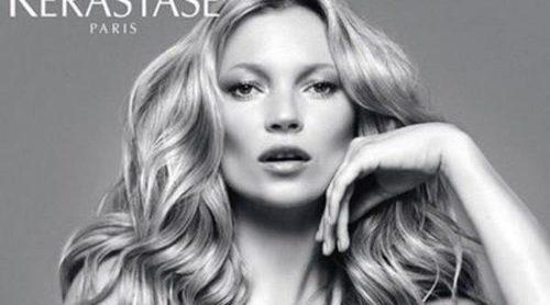 Kate Moss, una auténtica diva posando como imagen de Kérastase