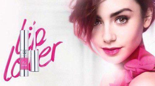 Lily Collins presenta los labiales de la colección 'Lip Lover' de Lancôme