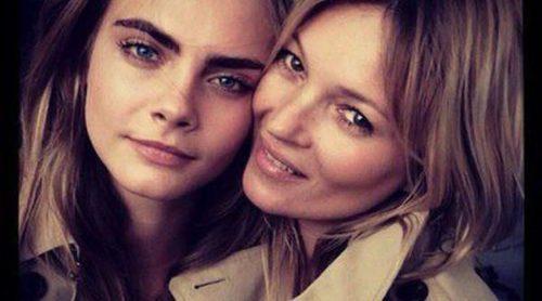 Cara Delevingne y Kate Moss, juntas para la nueva campaña de Burberry