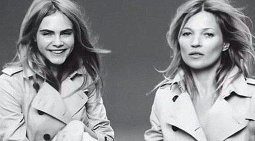 Así fue la grabación del spot de 'My Burberry' con Kate Moss y Cara Delevingne