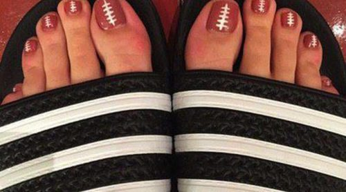 La Super Bowl 2015 llega hasta la pedicura de Katy Perry