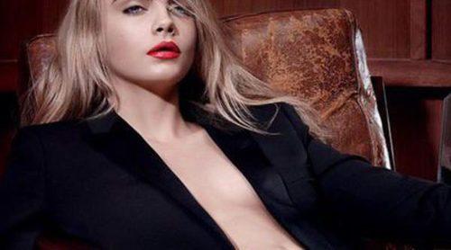 Cara Delevingne solo se viste con el nuevo pintalabios de Yves Saint Laurent