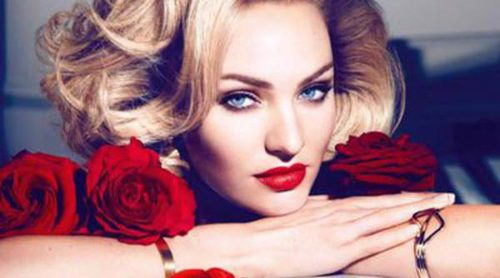 Max Factor lanza una colección de labiales inspirados en Marilyn Monroe con Candice Swanepoel