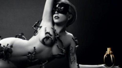 Lady Gaga se desnuda para promocionar su perfume 'Fame'