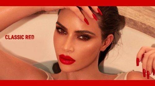 Kim Kardashian presenta 'Classic Red', la nueva barra y delineador de labios de KKW Beauty