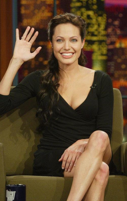 Angelina Jolie en el programa 'The Tonight Show with Jay Leno'