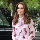 Kate Middleton con una voluminosa melena en el World Mental Health Day