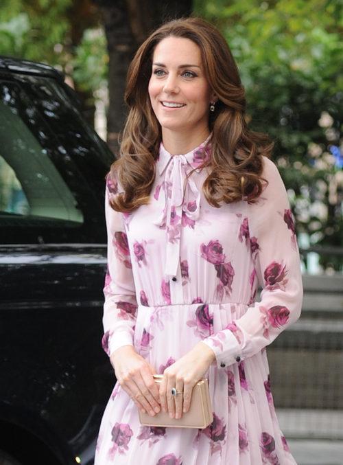 Kate Middleton con una voluminosa melena en el World Mental Health Day