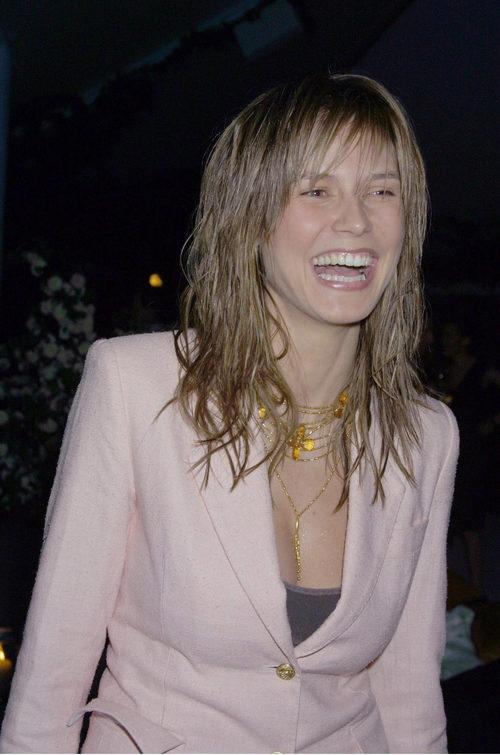 Heidi Klum con las puntas efecto mojado