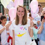 Esmeralda Moya informal durante el Día Internacional del Niño Hospitalizado