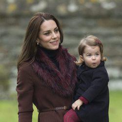 Kate Middleton muy natural el día de Navidad