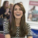 Kate Middleton con una melena lisa pero con mucho volumen