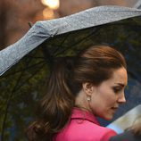 Kate Middleton con una coleta formal