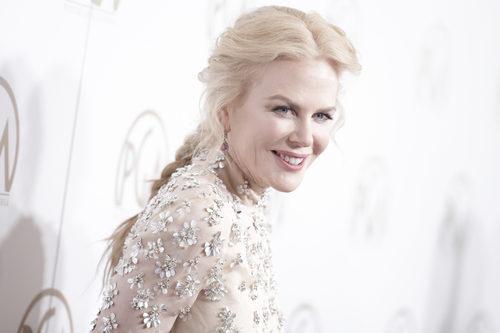 Nicole Kidman con una trenza trasera