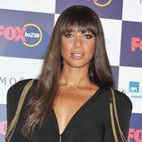 Leona Lewis con flequillo y el pelo largo