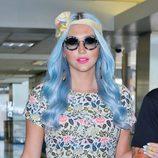 Kesha con el pelo azul