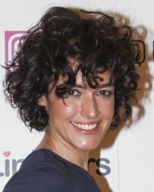 Blanca Romero con el pelo a lo afro