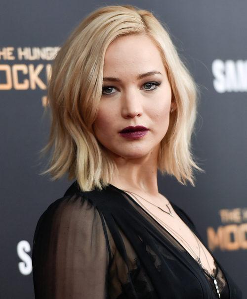 Jennifer Lawrence con el pelo corto