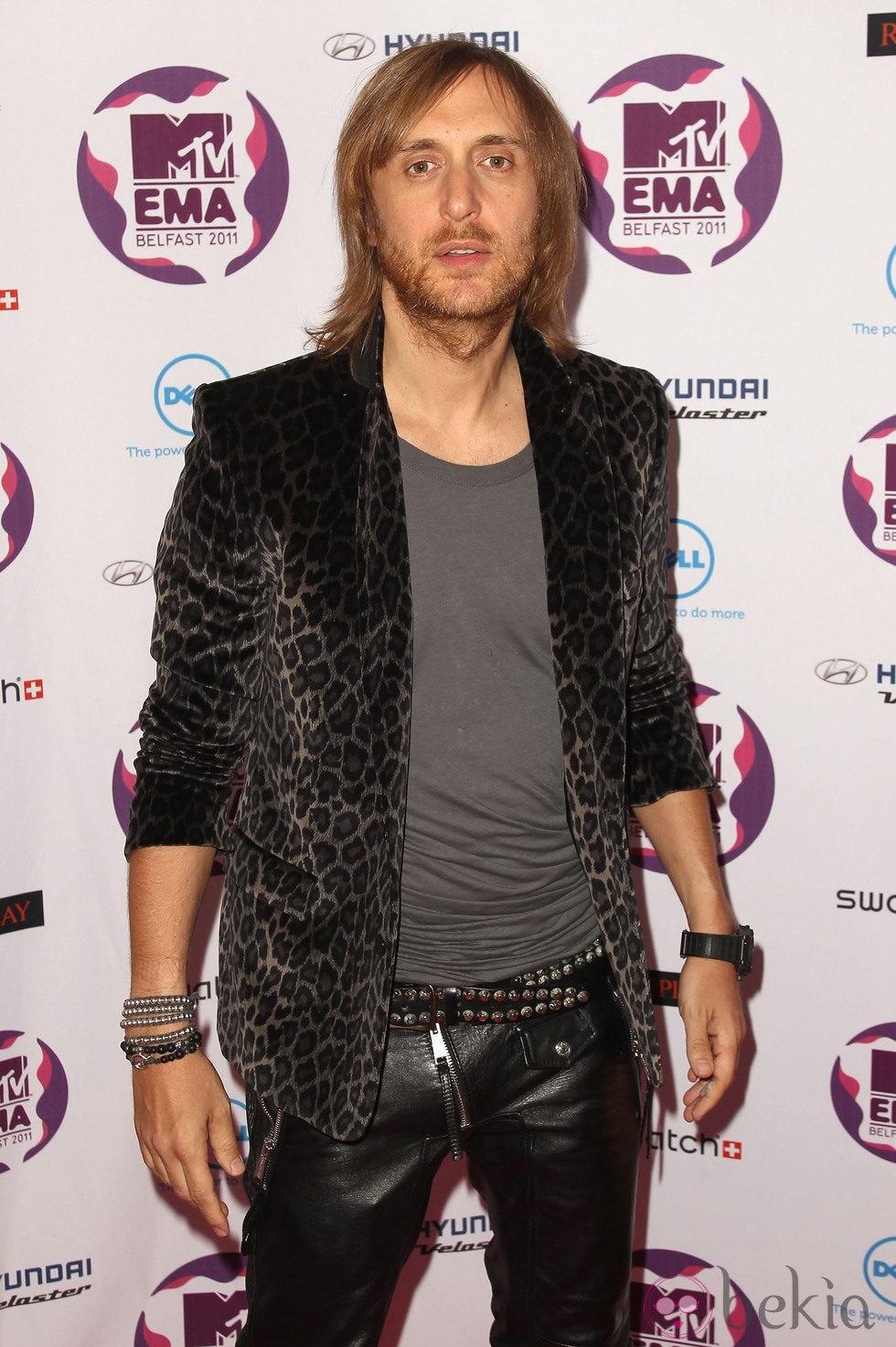 Peinado de David Guetta en los MTV Europe Music Awards 2011