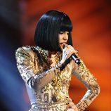 Peinado de Jessie J con el pelo liso en los MTV EMA 2011
