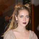 Chiara Ferragni con doble half up bun