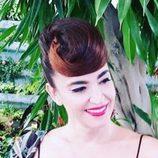 Cristina Rodríguez con un peinado original