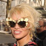Pamela Anderson en la semana de la moda de Milan