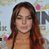 Lindsay Lohan con el pelo rojo